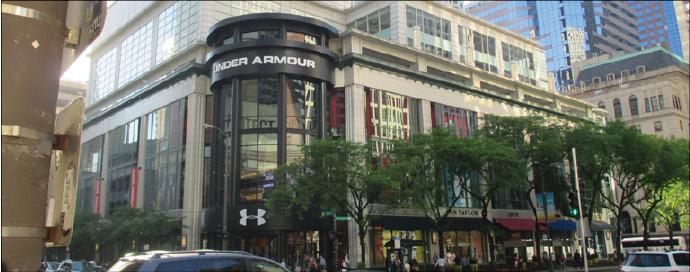 メーカー直販を強化する「アンダーアーマー」の旗艦店