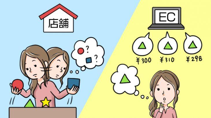 【EC初心者向け】ECモールのメリット/デメリットと実店舗の違いを表でざっくり解説!