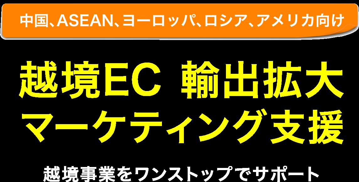 越境EC海外販路拡大 マーケティング支援